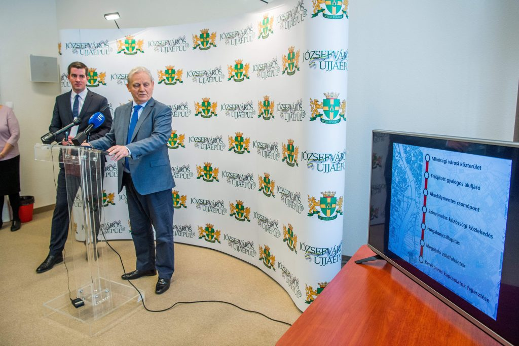 Blaha Lujza tér rekonstrukció sajtótájékoztató