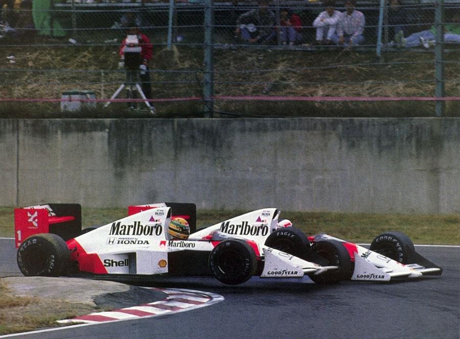 Prost és Senna a japán nagydíjon
