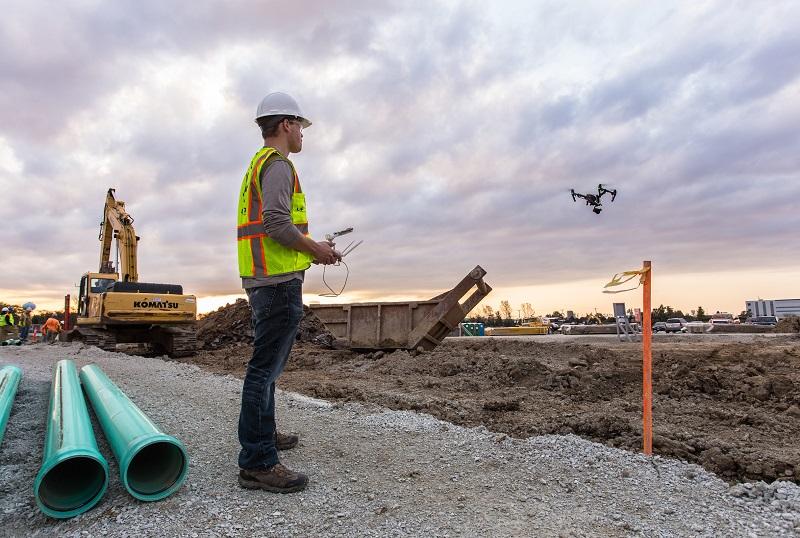 Technológia - drónok az építőiparban