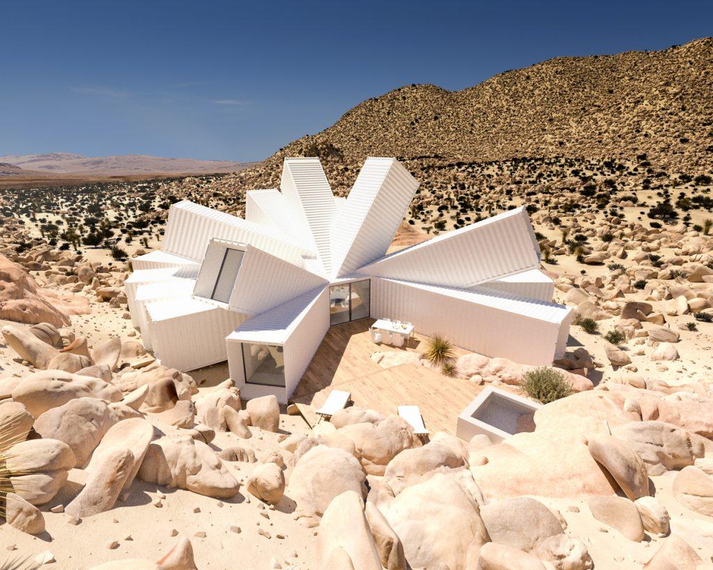 Konténerház a sivatagban