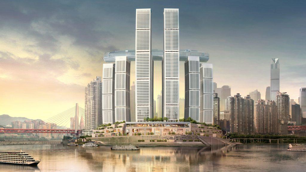 Vízszintes felhőkarcoló épül Kínában