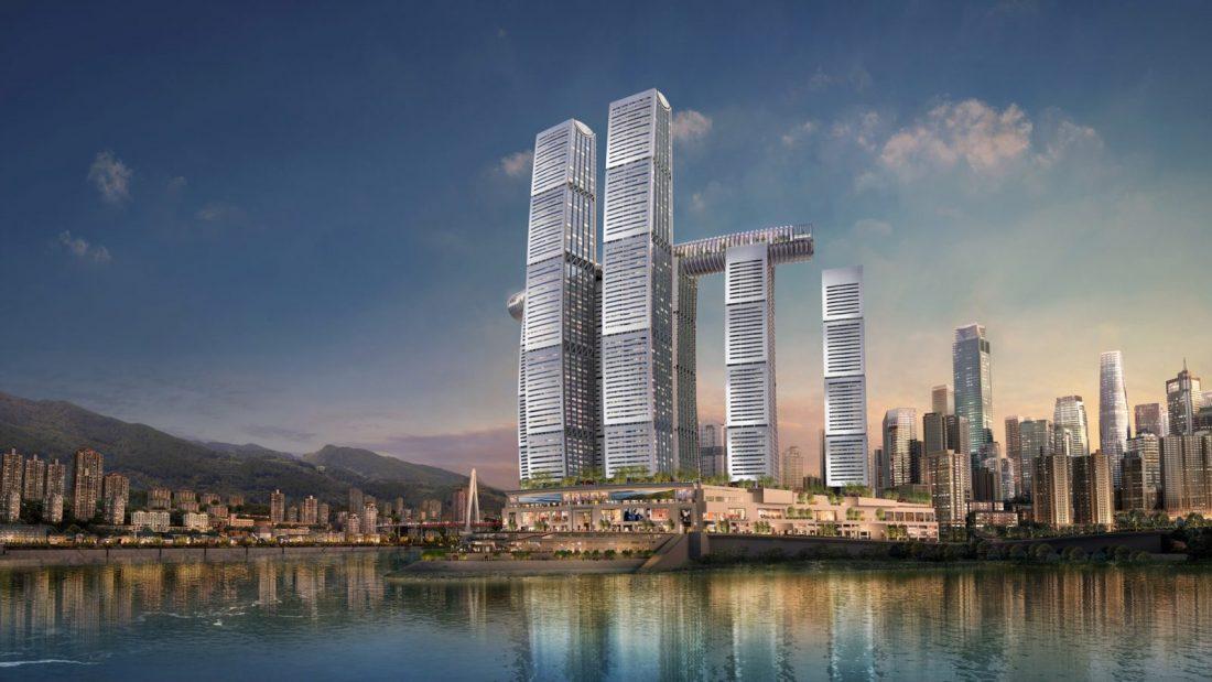 Épül a vízszintes felhőkarcoló