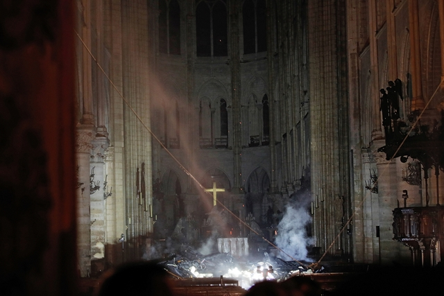 Lángoló Notre Dame