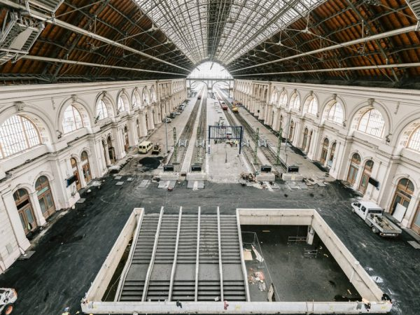 Karbantartás a Keleti pályaudvaron
