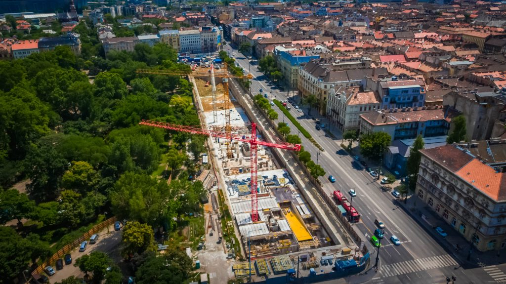 Liget Budapest projekt - Az épülő mélygarázs