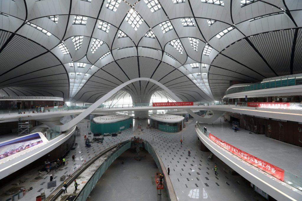 Peking második nemzetközi repülőtere belülről