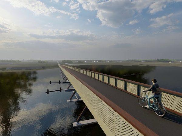 Európa leghosszabb kerékpáros hídja