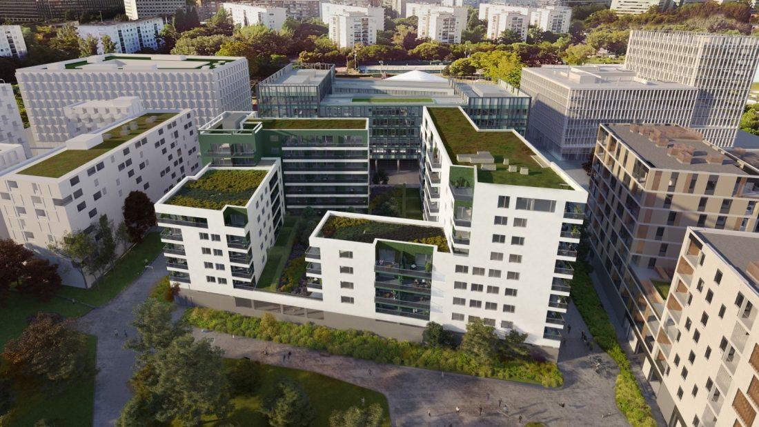 Szerkezetkész a BudaPart legújabb épülete