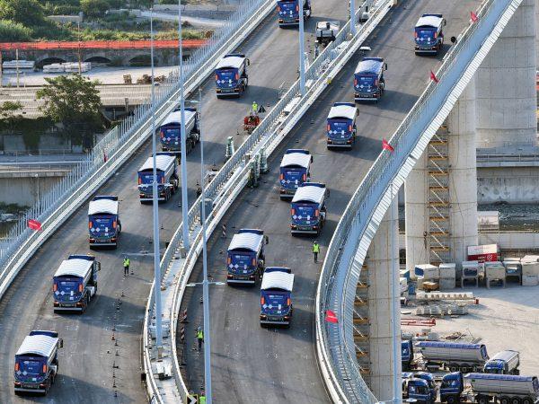 Végzik az új genovai híd tesztelését