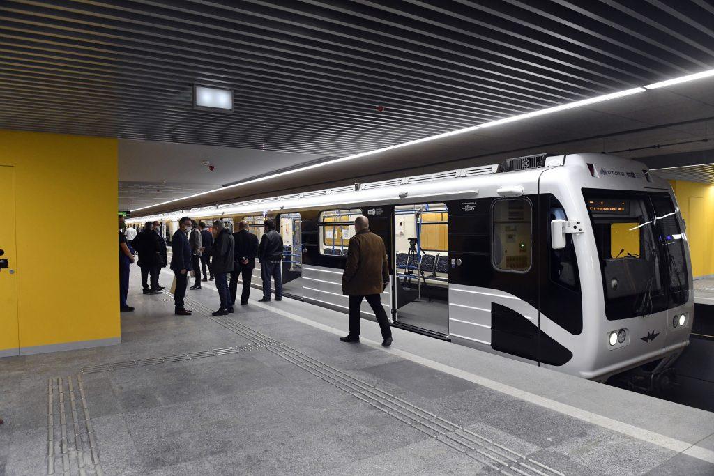 A megújult Pöttyös utcai állomás a 3-as metróvonal felújított déli szakaszán.