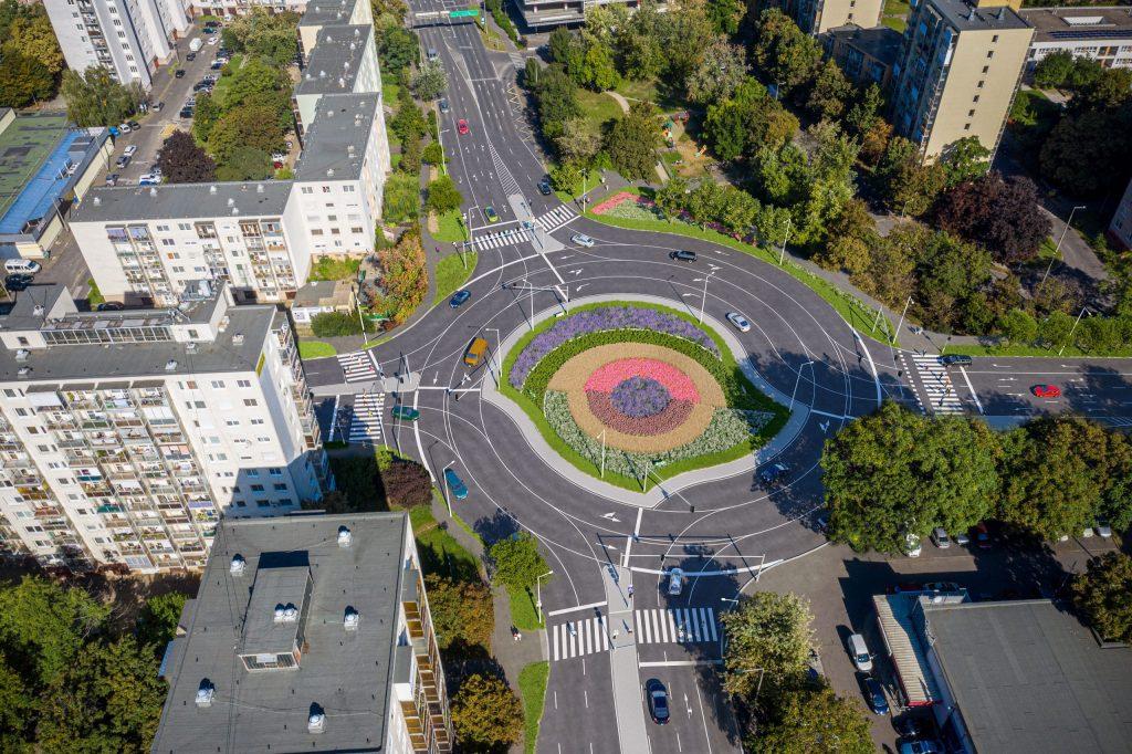 A miskolci turbó rendszerű körforgalom. Forrás: NIF