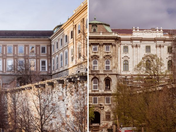 Elkészült az első felújított épületrész a Budavári Palotában